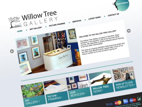 Willow Tree Gallery Web Design