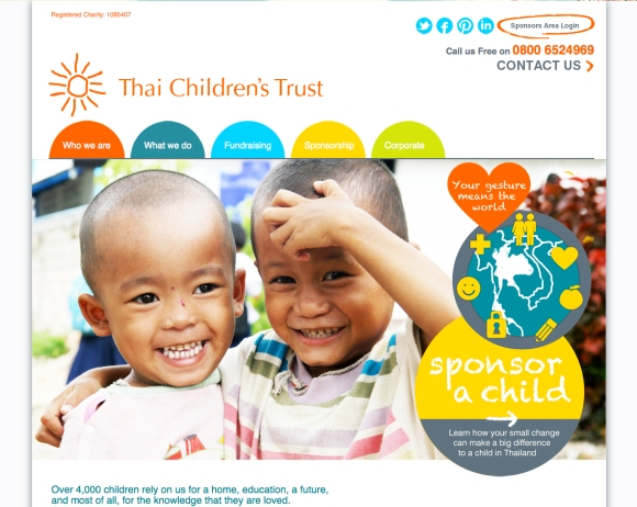 Thai Children's Trust Web Design